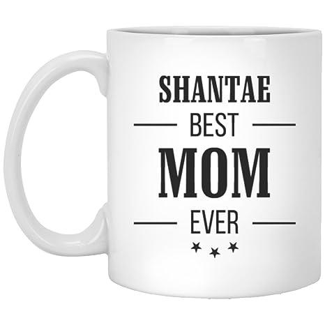 Amazon.com: Shantae Best Mom Ever taza de cerámica divertida ...