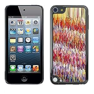 TopCaseStore / la caja del caucho duro de la cubierta de protección de la piel - Lines Pattern Abstract Pink Painting - Apple iPod Touch 5