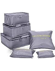 Vicloon Sistema di Cubo di Viaggio, Cubo Borse di stoccaggio, 6 pezzi Abbigliamento Intimo Abbigliamento Calzature Organizzatori Sacchi di Stoccaggio Set