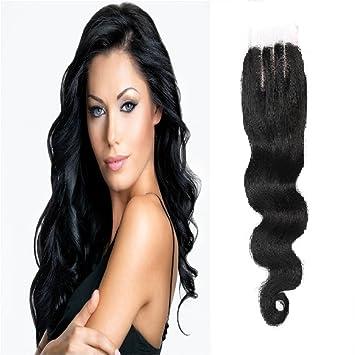 69480ef02ac Amazon.com : Wendy Hair 8A Brazilian Body Wave 4x4 Three Part Hair ...