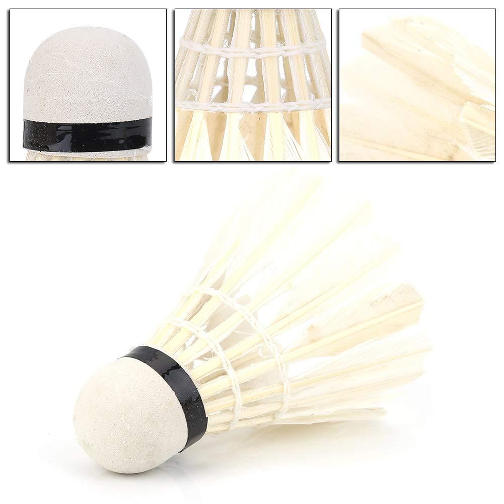 Piuma DOca ad Alta velocit/à di Badminton Ball Lot White Feather Badminton Balls Shuttlecocks Nikou 12Pcs Adatto per lesercizio di Sport allAria Aperta Giochi di Allenamento Accessorio
