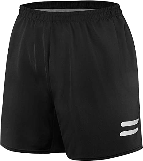 WHCREAT Men/'s Running Shorts with Zip Pockets for Sports Gym Training