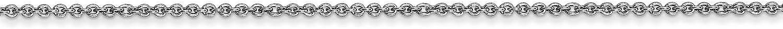 14k White Gold 1.0mm Polished Cable Link Chain Necklace Bracelet Anklet 9-30