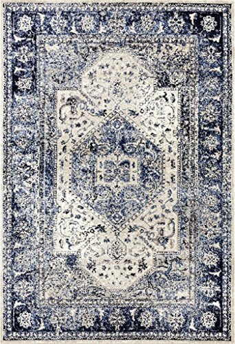 2041 Distressed Ivory 8 x 10 Area Rug Carpet Large New