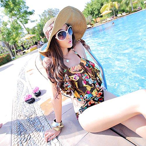 BUSL Frauen Badeanzug kleine Brust sammeln decken den Bauch war dünn flouncing dünne dreieckiges Stück Badeanzug Urlaub war