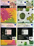 Mainstays Vinyl Tablecloth 52 x 70 Twin Pack Pineapple Theme, Cacti Theme