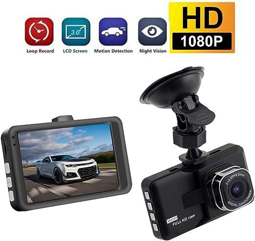 C/ámara de Coche Full HD Dash CAM,Modo de Estacionamiento,Detecci/ón de Movimiento,Grabaci/ón de Bucle,S/úper Visi/ón Nocturna KOBWA 1080P Dash CAM