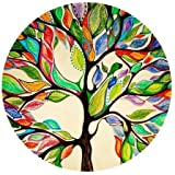 """1 X Tree of Life Gorgeous Like Leather Mousepad Size(7.87""""x7.87"""") Customized Round Mouse pad"""