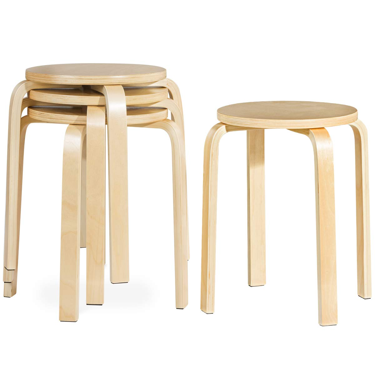 Linon San Francisco Square Top Counter Stool, Caramel