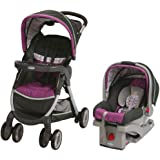 Graco FastAction Fold Stroller Click Connect Travel System, Nyssa (Discontinued by Manufacturer)