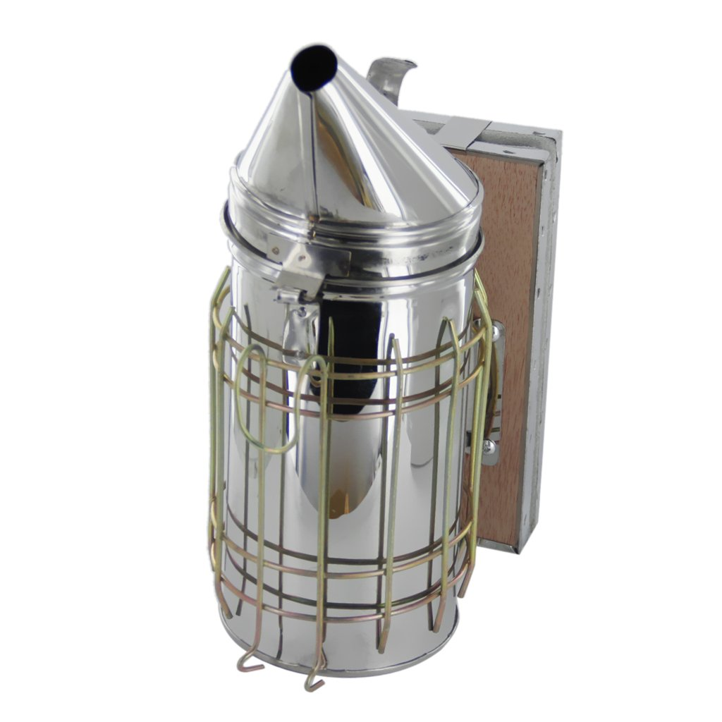 Baosity Bee Hive Smoker Stainless Steel W/Leather Heat Shield Beekeeping Equipment by Baosity (Image #4)