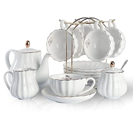 Amazon Com Porcelain Tea Sets British Royal Series 8 Oz Cups