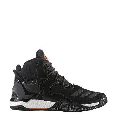 Amazon.com | adidas D Rose 7 Primeknit Shoe Men's Basketball 8 Core  Black-Orange | Basketball
