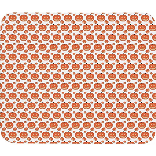 - Adorable Halloween Pumkin Mouse Pad Natural Rubber Excellent Cloth Mousepad Stable No Slip Easy to Clean Office Home Computer Laptop Textured Rectangle Gaming 270X320 Mm Mouse Mat