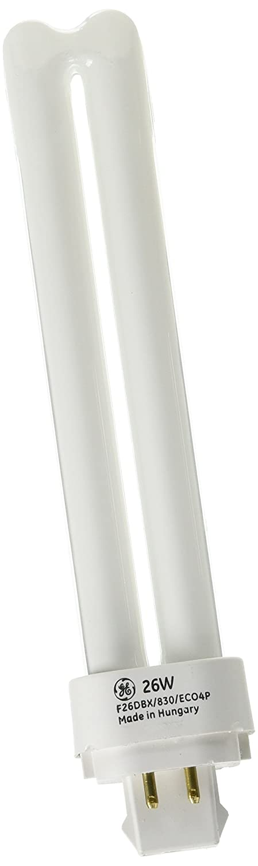 GE 97611 Series 97611 F26Dbx 830 Eco4P 26 Watt Quad Tube Compact Fluorescent Light Bulb 4 Pin 3000K