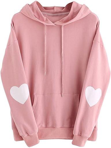 STORTO Women Loose Patchwork Shirt, Hoodies Pullover Coat Hoody Sweatshirt