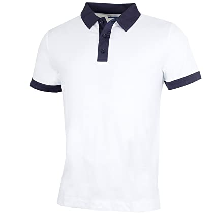 cc51aa326 Callaway Golf 2018 Mens Opti-Dri X Range Contrast Collared Polo Shirt  Bright White Small