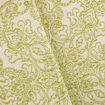 Amazon.com: Chartreuse/marfil Paisley Jacquard Decoración ...