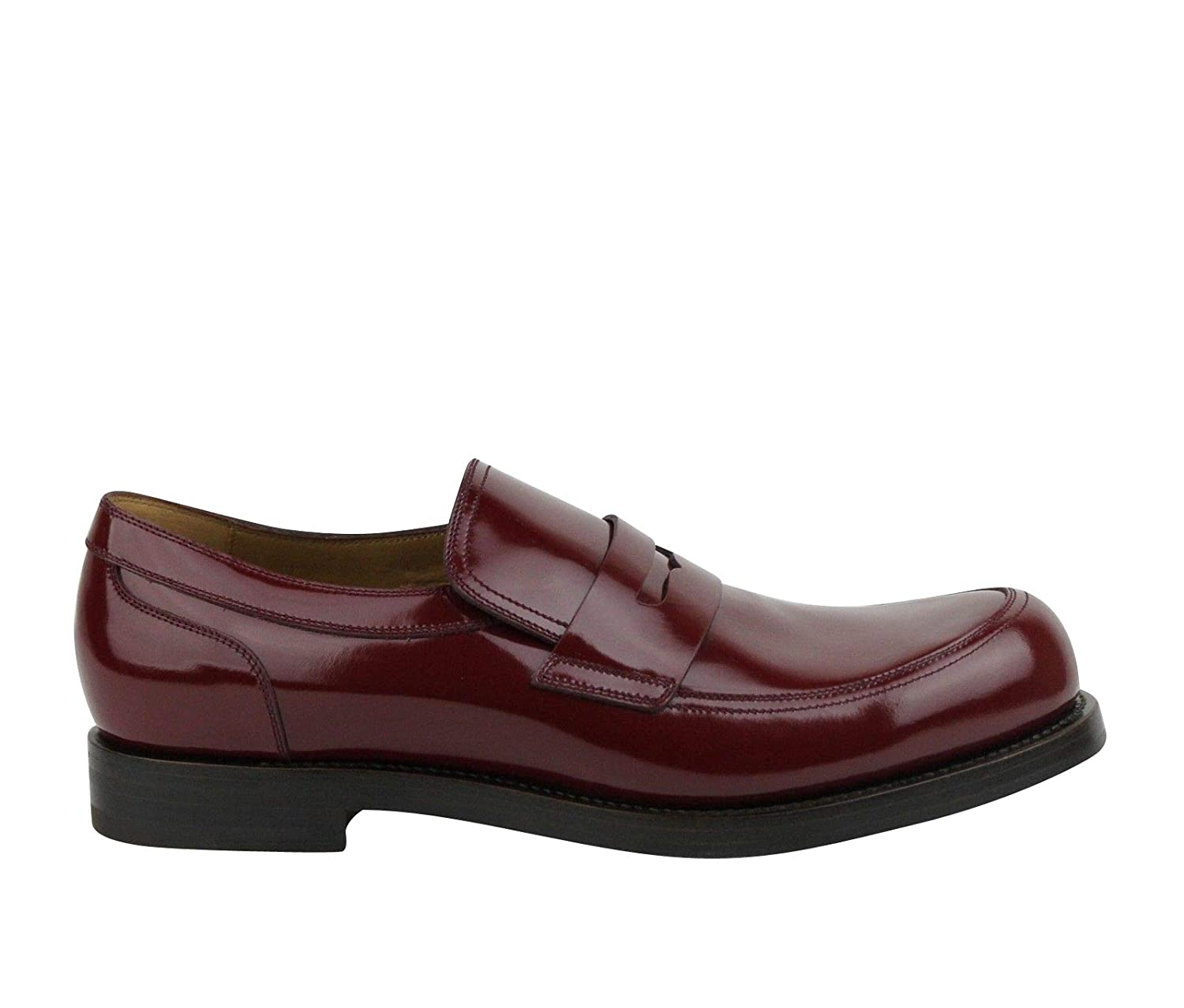 1d7f5974c40 Amazon.com  Gucci Polished Cocoa Penny Burgundy Leather Loafer Shoes 386541  6148 (9 G   10 US)  Shoes