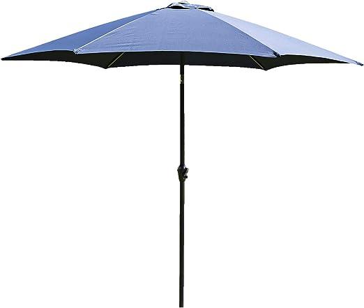 Alfresia - Parasol para jardín, patio, exteriores, 3 m, aluminio, varios colores: Amazon.es: Jardín