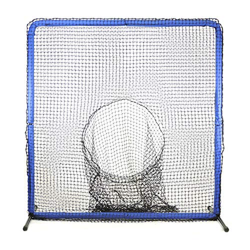 Jugs Square Screen - Jugs Protector Blue Series Square Screen with Sock-Net -Protection, 7'H x 7'Wwith 3' Sock-Net, 60 Ply Poly-E Netting and 1.5