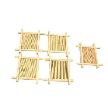 Amazon.de: Lychee Untersetzer aus Bambus von TE Cup Pad Tischset ...