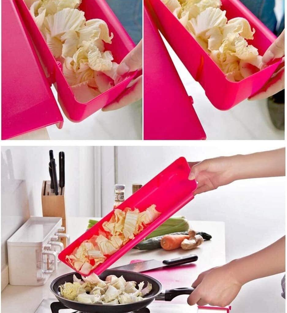 Obstkorb Kreative Küche, Schneidebrett mit Gemüse Slot, Anti-Rutsch-Schneidebrett, Kunststoff Dicker und haltbare Pp Schneidebrett Obstteller (Color : Rose Red) Yellow