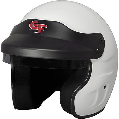 G-Force 3121LRGWH GF1 Open Face Helmet, White, Large: Automotive