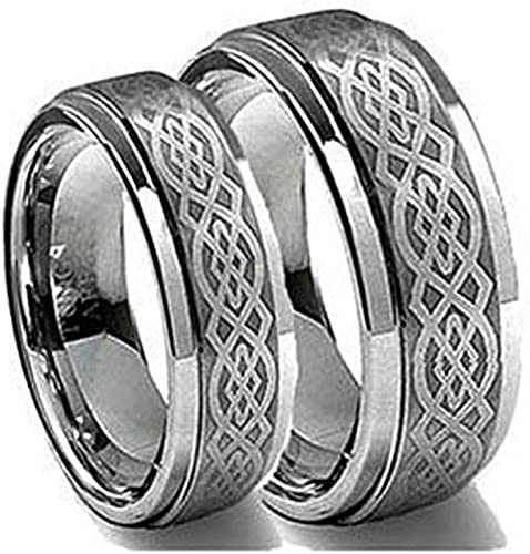Tungsten Jeweler CK2-LADIES6MM-MEN8MM-CELTIC product image 1