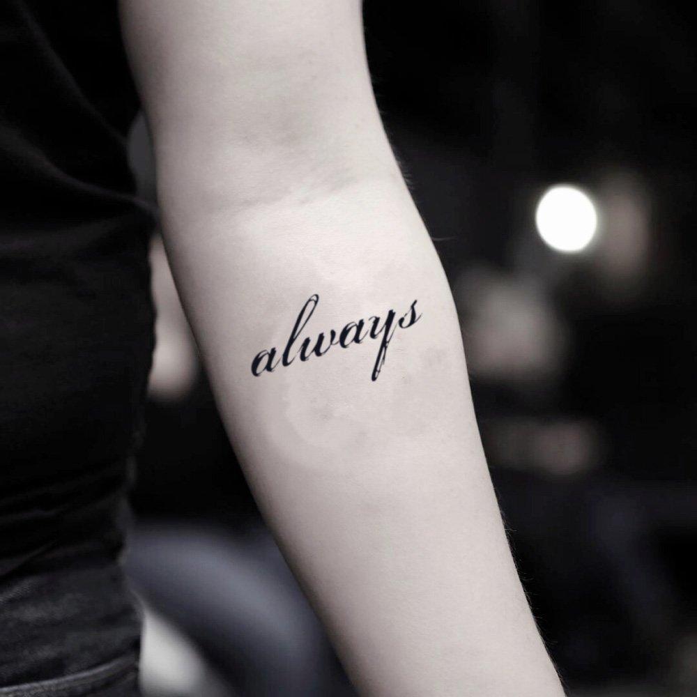Tatuaje Temporal de Siempre cita (2 Piezas) - www.ohmytat.com ...