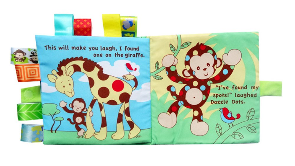 Here Fashion 3 Packs Non Toxic Soft Fabric Baby Cloth Books Early