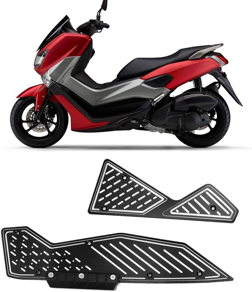 155 2015-2017 Motorcycle Step Pads CNC Aluminum Alloy Modified Footrest Foot Pads Fits for Yamaha Nmax 125 Black