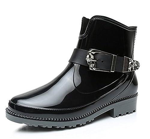 YOGLY Botas de Agua de Mujer Botas Martin Lluvia de Moda Zapatos de Goma Para Mujeres Antideslizante Impermeables Calzado: Amazon.es: Zapatos y complementos