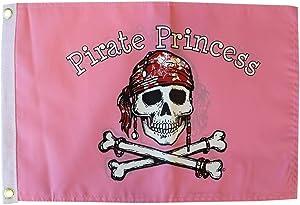 Pirate Princess 12x18 in. Outdoor Garden Flag