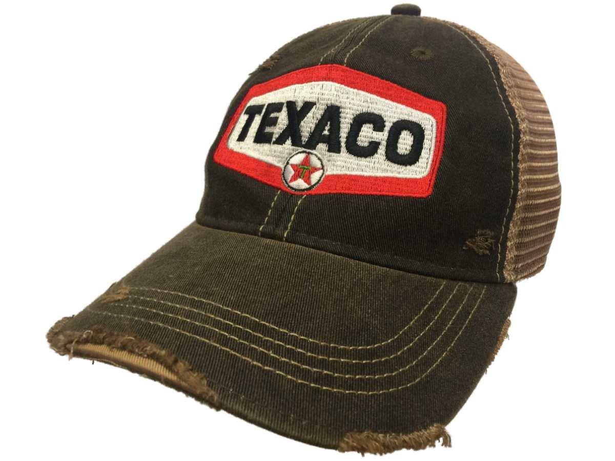75e7d078af1 Amazon.com  Texaco Gas Station Retro Brand Mesh Brown Adjustable Snapback  Trucker Hat Cap  Sports   Outdoors