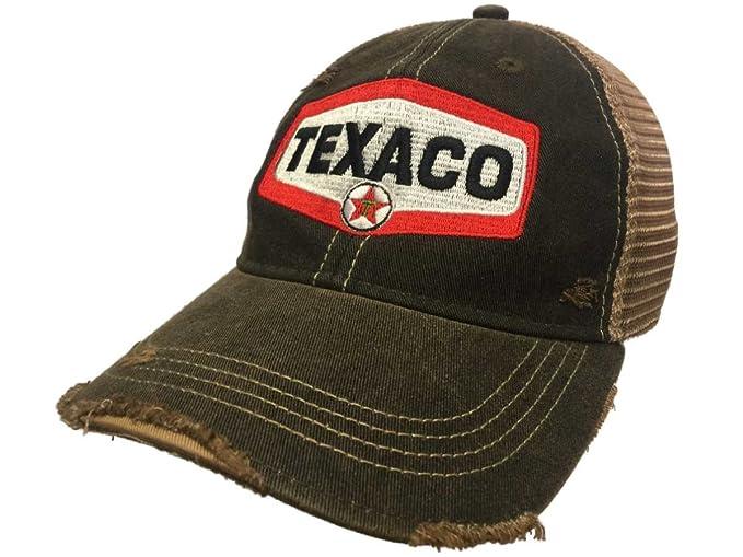 8f2fb7c6128 Texaco Gas Station Retro Brand Mesh Brown Adjustable Snapback ...