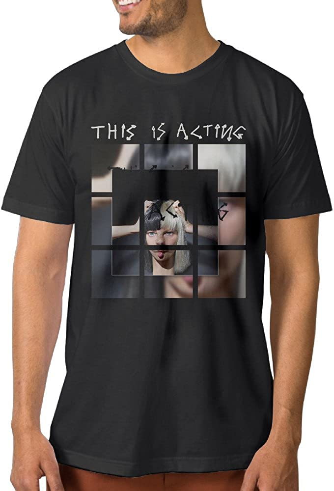 Show Time Men's Sia This Is Acting Short Sleeve Geek Tshirt Black