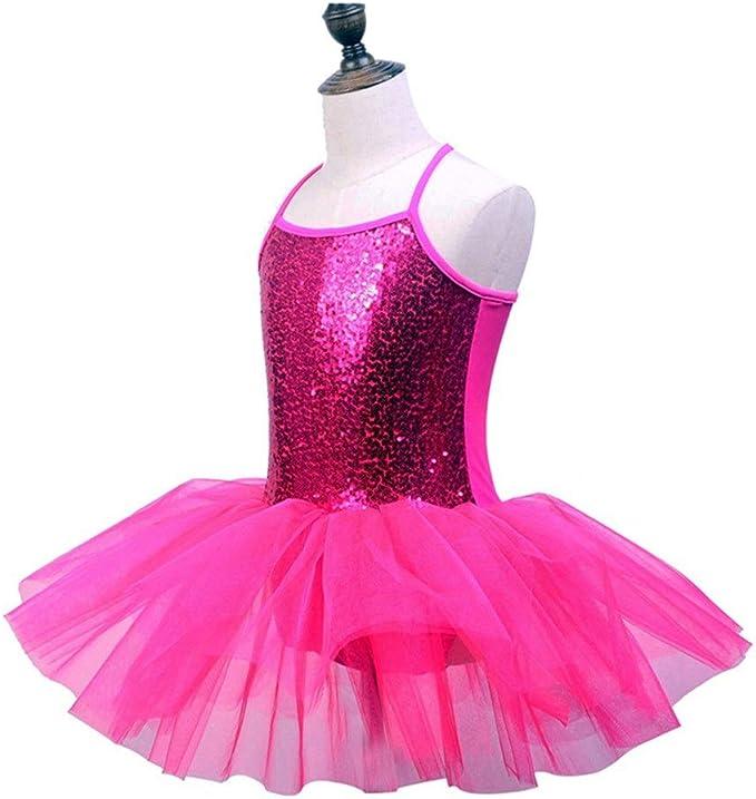 AUMING Vestidos de Ballet de niña Niñas Camisola Vestido de Ballet ...