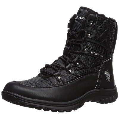 U.S. Polo Assn.(Women's) Women's Cascade Fashion Boot, Black, 6 Medium US | Ankle & Bootie