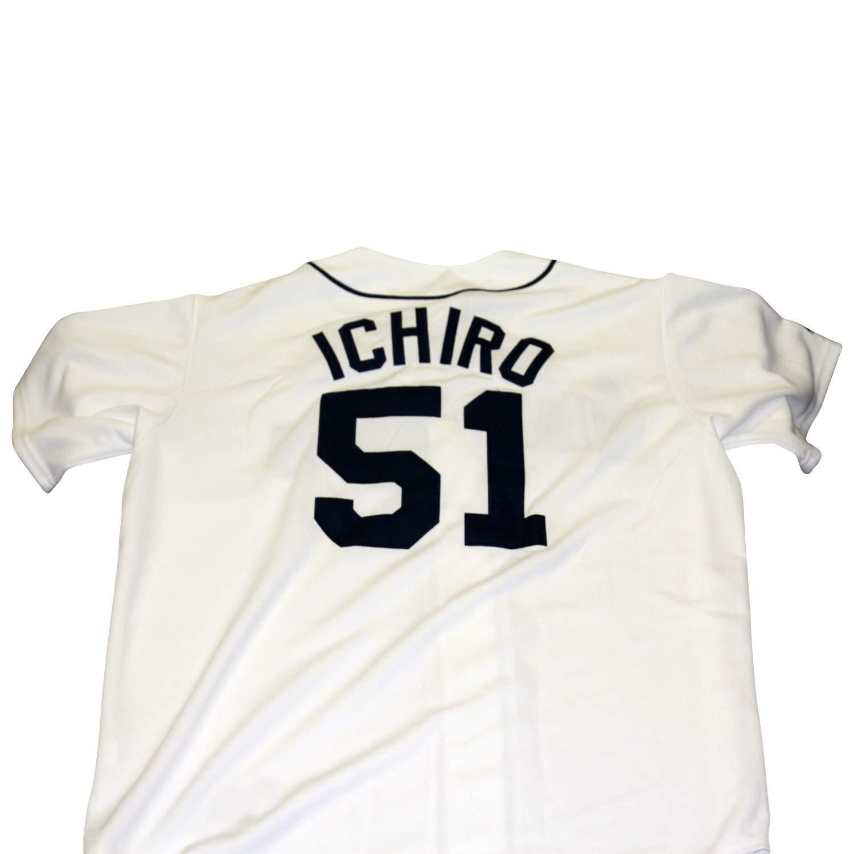 Ichiro Suzuki Seattle Mariners Unsigned Majestic Baseball Jersey - Size L
