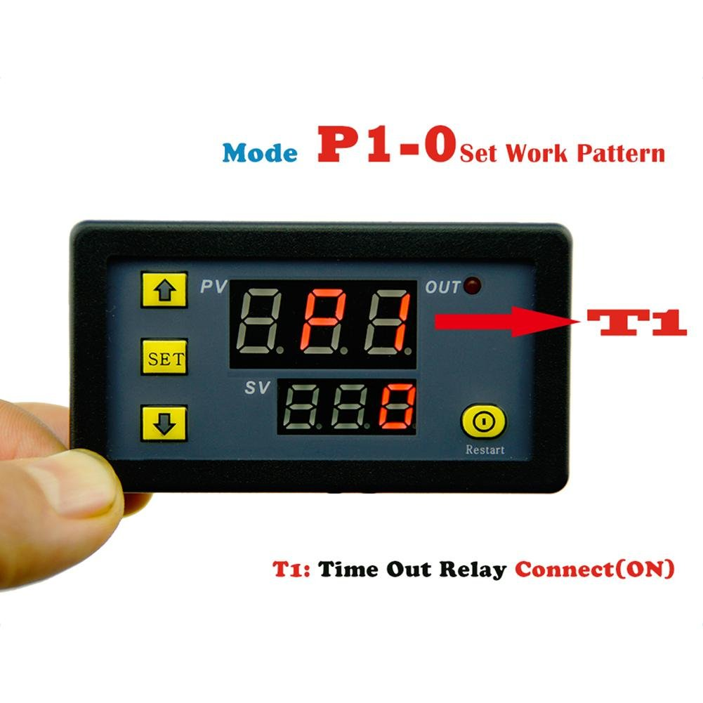 Vanpower DC 12/V 20/A Affichage digital Relais de temporisation minuterie Timing Cyclisme module