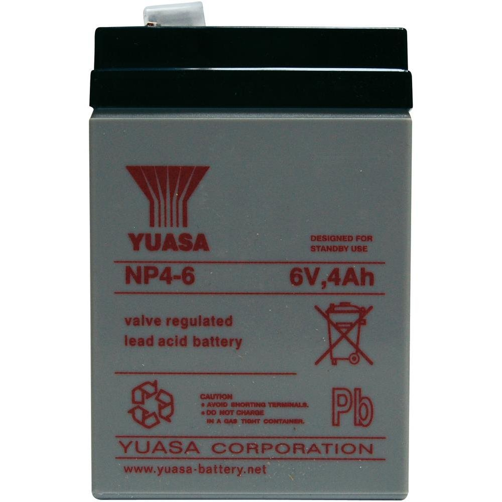 Yuasa NP4 – Plombierte Sealed Lead Acid (VRLA) 4000 mAh 6 V Battery NP4-6