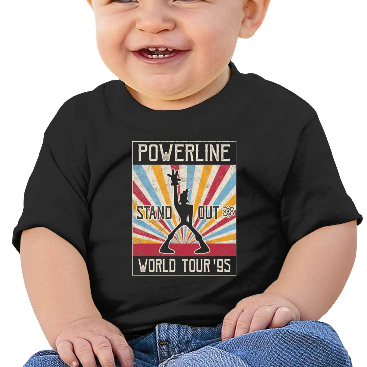 Kangtians Baby Powerline Stand Out Shirt Childrens Cotton Tee