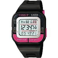 Casio Girls Runner Quartz Running Watch with Resin Strap, Black, 35.1 (Model