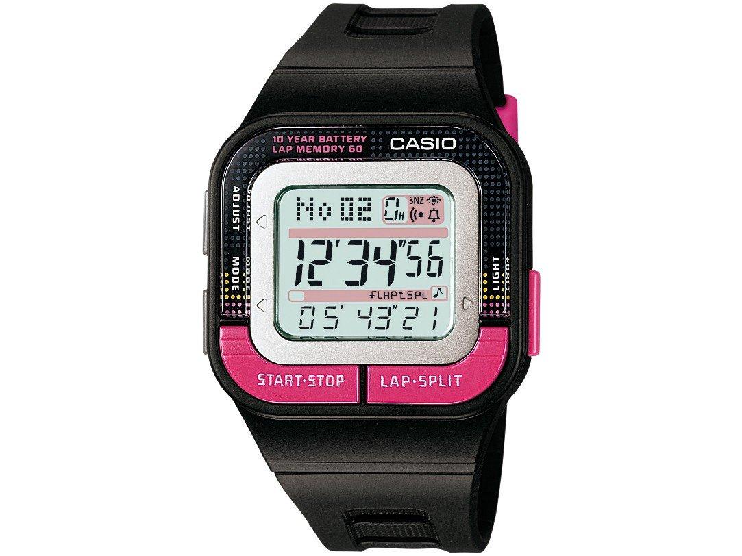 Casio Girls' Runner Quartz Running Watch with Resin Strap, Black, 35.1 (Model: SDB-100-1BCF) by Casio