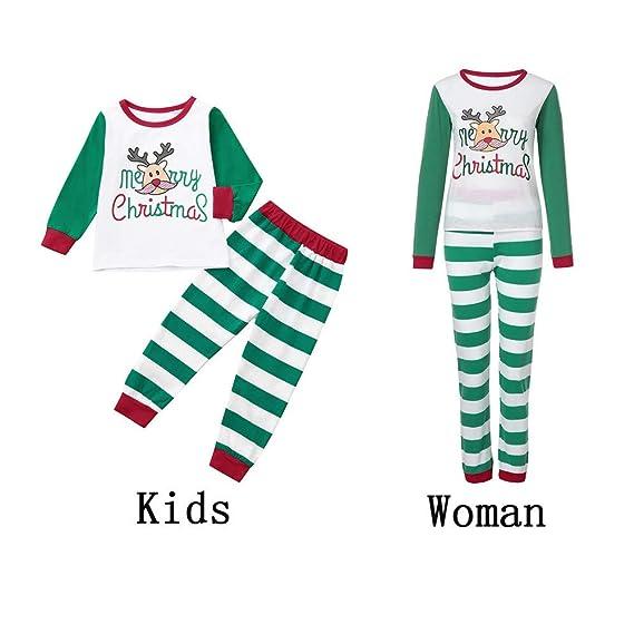 K-youth Conjunto de Pijamas Ropa Familiar Navidad Fiesta Elk Hombre ...