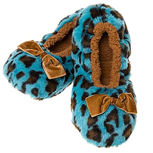 d47fe363db8 Snoozies Deep Sumptuous Sherpa Fleece Leopard Print Slippers (MED UK ...