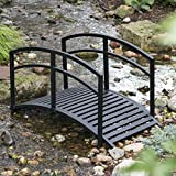 Double Arched Rails Garden Bridge - 4 ft.