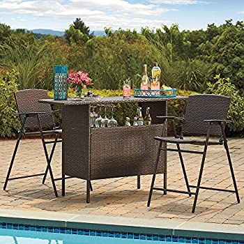 This Item Stratford Wicker Bar And Balcony Chairs Best Most Durable Outdoor  3 Piece Patio Furniture Set