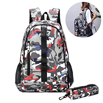 Fortnite Mochila, Fortnite School Bag Luminous Fortnite Mochila Mochila de gran capacidad Canvas Laptop Book